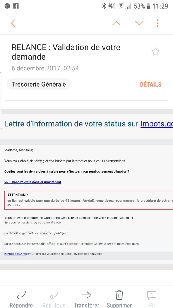 Screenshot_20171207-112904-576x1024 Danger : faux mail de Trésorerie Générale