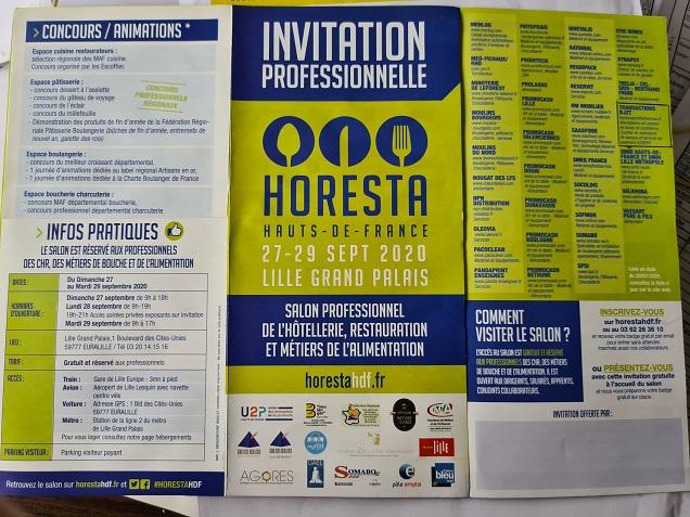 HORESTA HORESTA 27 AU 29/09/2020 LILLE GRAND PALAIS